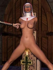Fantastic 3D Evil Priestess with slim body